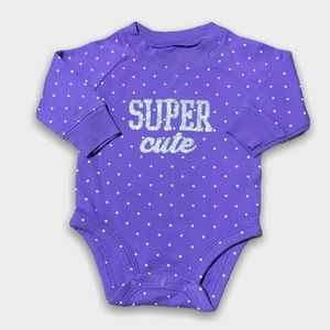 4/$20🥳 Purple Long Sleeve Polkadot Onesie
